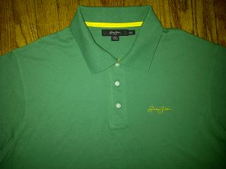 Sean John SJC P Diddy Hip Hop Urban Green Yellow Gold Polo Shirt 3XL XXXL 3X