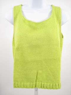 John Patrick Lime Green Sweater Cardigan Set Sz M