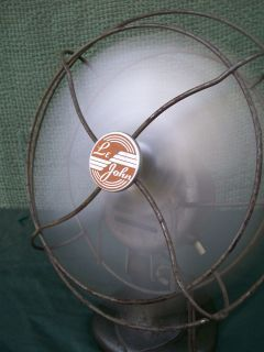 Vintage Le John All Metal Art Deco Electric Fan Desktop Table Cast Iron Fan VGC