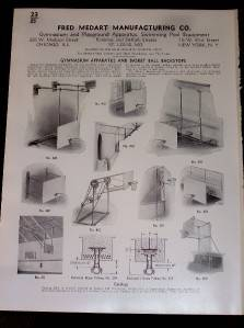 Vtg Fred Medart Mfg Co Catalog Insert Basketball 1936 |