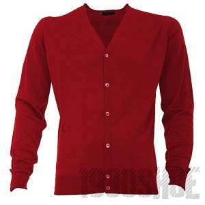 New Mens John Smedley Bryn Merino Wool Cardigan Chilli Red Made In England M