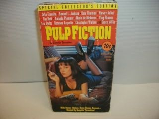 Pulp Fiction Special Collector's Edition VHS Movie John Travolta Samuel Jackson 786936003222