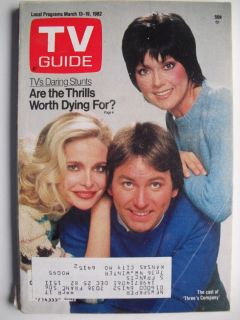 'Three's Company' John Ritter Priscilla Barnes March 1982 TV Guide