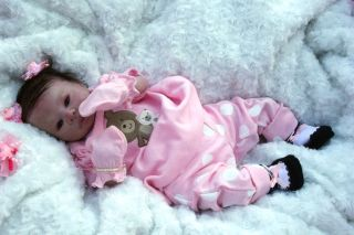 """"""" Adorable """" Reborn Baby Girl with A Large Layette A Lulu Sculpt by Jen Printy"""