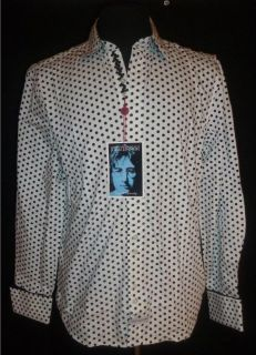 Mens Dress English Laundry John Lennon Shirt Polka Dot White Size XXL 2XL New