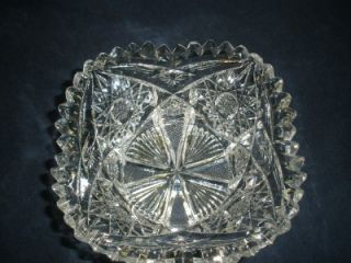 ABP PAIRPOINT MT WASHINGTON CUT GLASS MAYONNAISE UNDERPLATE MONTEREY SINGLETON