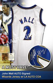 John Wall AUTO Signed Wizards Jersey GAI GV685025