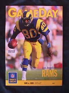 1989 Los Angeles Rams vs San Francisco 49ers John Taylor Runs Wild Game Program