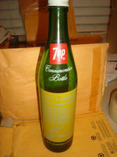JOHN WOODEN VERY RARE 7UP COMMEMORATIVE BOTTLE FOR THE UCLA BRUINS CHAMPIONSHIPS