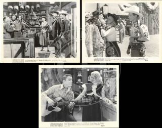 ROY ROGERS DALE EVANS LOT OF 3 RE ISSUE 8x10 WESTERN SCENE STILLS