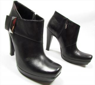 "Aldo ""Hot Biker"" High Heels Plateau Ankle Boots Shoes Heels Leather Black"