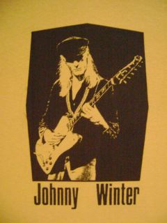 Johnny Winter Rock Blues Guitar T Shirt