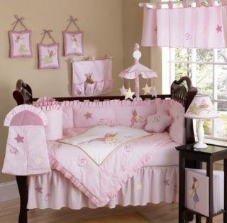 JoJo Designs Baby Girl Crib Bedding Set Fairy Tale Fairies Pink