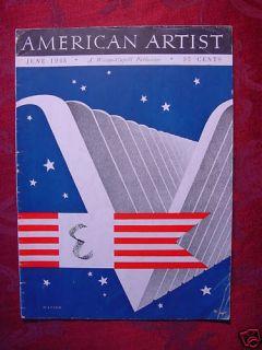 American Artist June 1945 ve Day John Wells James Bobri