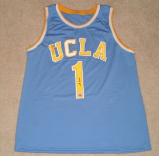 John Wooden Signed Autographed UCLA Bruins 1 Basketball Jersey Mm