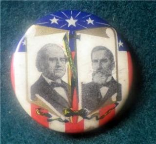 1908 William Bryan John w Kern Pinback Button