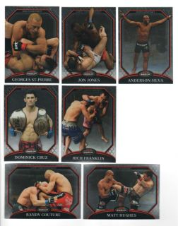2011 Topps Finest UFC MMA Card Set Georges St Pierre Anderson Silva Jon Jones