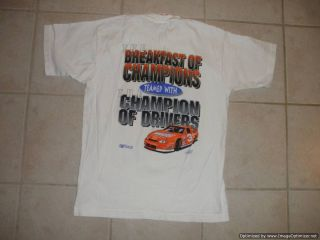Dale Earnhardt 3 Wheaties T Shirt Large NASCAR Breakfast of Champions Race Car