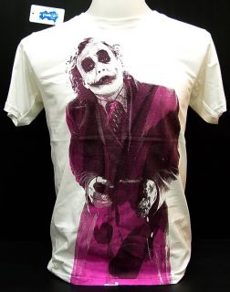 Joker Heath Ledger Retro T Shirt Vintage Batman M