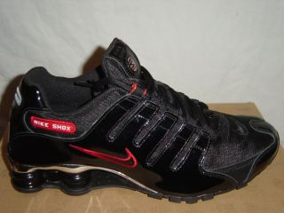 Nike Shox NZ EU Trainers Black White Navy Blue Osidian Red Blue