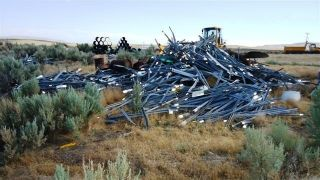 Big Pile 'O Scrap Metal Oregon Department of Transportation Jordan Valley Or