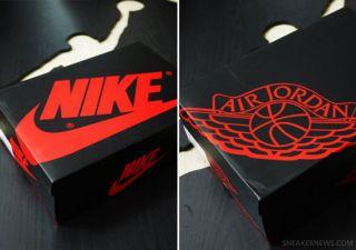New 2013 Nike Jordan Air 1 Retro OG High White Varsity Red Black Bred Size 18
