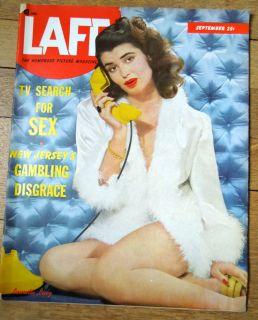 LAFF September 1950 Big Pin Up Mag JOI LANSING Alcoholics Anonymous 12 Steps
