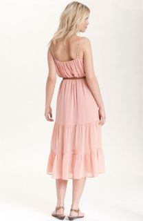 New Joie 'Elaine' Tiered Silk Chiffon Maxi Dress Size Medium 6 8 $368 Petal