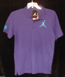 NIKE AIR JORDAN JUMBO JUMPMAN 23 CLASSIC POLO SHIRT PURPLE XL 458779 409 NWT