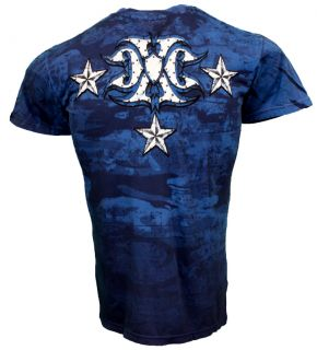 Xtreme Couture MMA Ring White Eagle Blue Mens Tee Shirt 2XL