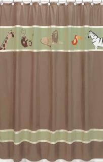 JoJo Designs Animal Safari Kids Bath Shower Curtain