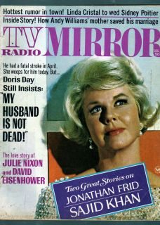 TV Radio Mirror 1968 Doris Day Sally Field Linda Cristal Jonathan Frid