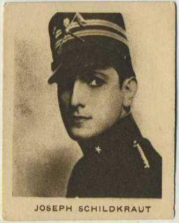 Joseph Schildkraut Vintage 1933 Allens Film Stars Trading Card 65 Movie Star