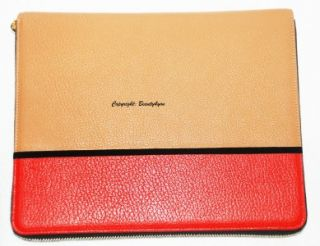 Jonathan Saunders for Smythson two tone leather iPad case