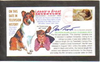 Lassie Collie Owney Dog Jon Provost Great Adventure Postal Stamp Event Cover