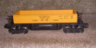 Lionel 3459 Yellow Automatic Dump Car Custom Paint