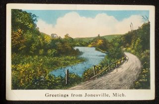 1933 Country Road Greetings Jonesville MI Hillsdale Co
