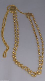 Indian Bollywood Gold Plated Small Ball Chain Mala Necklace 24 in Two Line