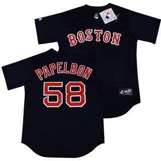 Boston Red Sox Jonathan Papelbon Navy Sewn Jersey XL