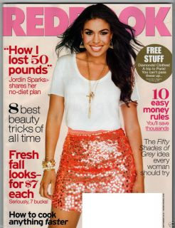 REDBOOK MAGAZINE SEPTEMBER 2012 JORDIN SPARKS 50 SHADES OF GREY DIAMONDS FASHION