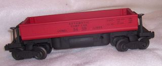 Lionel 3459 Red Automatic Dump Car Black Lettering Custom Paint