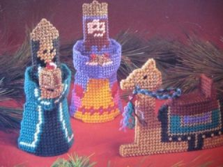 CRECHE NATIVITY SET PLASTIC CANVAS PATTERN Mary Joseph Jesus Angel Wiseman Camel
