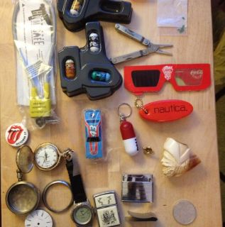 Junk Drawer Ore Silver Watch Zippo Mighty Beanz Pipe