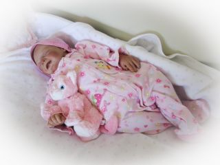Reborn Baby Doll Sweet Baby Girl Joyce with Willbeth layette HUMAN HAIR
