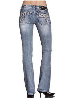 Miss Me JP5614B Frame Paradise Boot Cut Lowrise Stretch Jeans