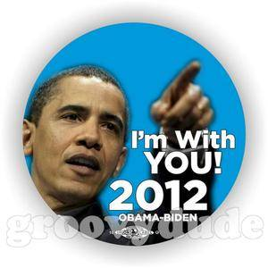 I'M with You Barack Obama Joe Biden 2012 Political Campaign Pin Button Pinback