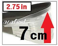 Heel Lifts Pad Shoe Insoles High Insert Air Cushion 6cm
