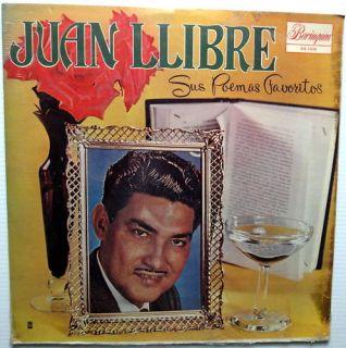 Juan Llibre Sus Poemas Favoritos LP Borinquen SEALED |