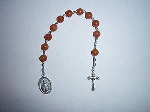Custom St Juan Diego Chaplet 1 Decade Rosary Our Lady of Guadalupe gemstone