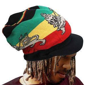 Lion of Judah Rasta Rastafari Hat Cap Selassie Ethopia Reggae Jamaica Marley M L